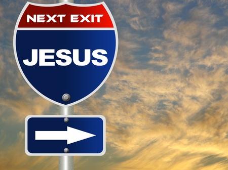 Jesus road sign Banco de Imagens - 11472652