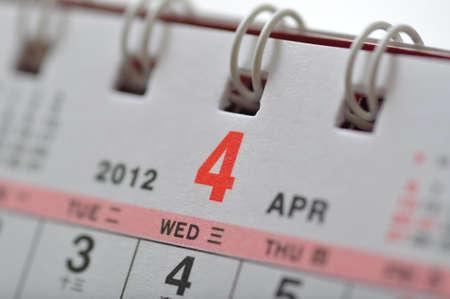 scheduler: April of 2012 calendar
