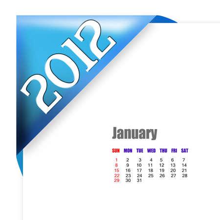 scheduler: January of 2012 calendar