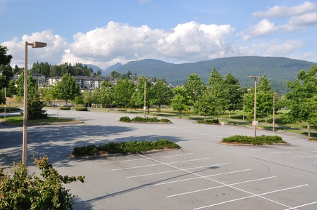 lot: Empty parking lot in the park