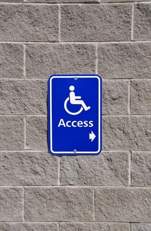 Disable access sign Foto de archivo