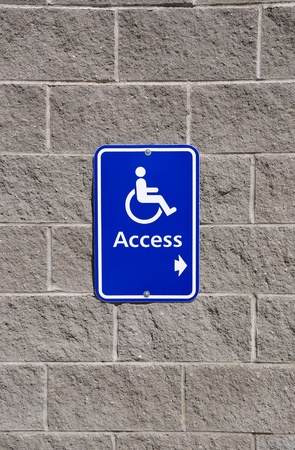 Disable access sign photo