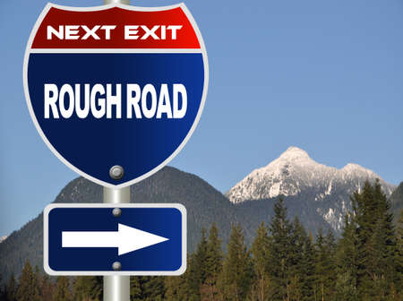 rough road: Rough road road sign  Stock Photo