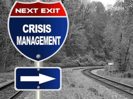 Crisis management road sign  photo