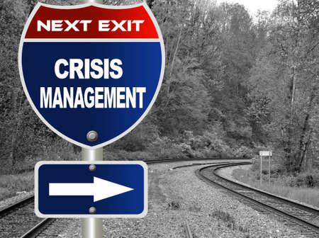 Crisis management road sign  photo