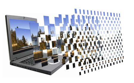 3D zwevende's Stockfoto