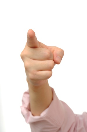 about you: Hand gesture about you are the best
