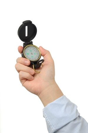 Businessman holding compass  Stock Photo - 12899734