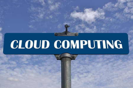 Cloud computing road sign  免版税图像