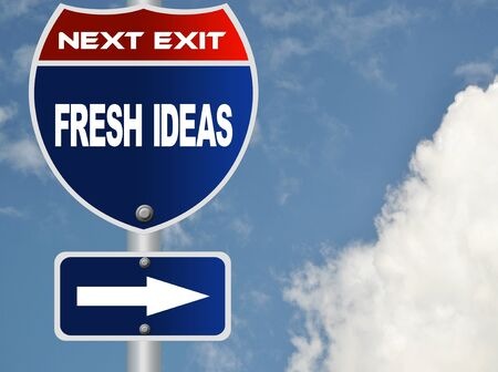 Fresh ideas road sign photo