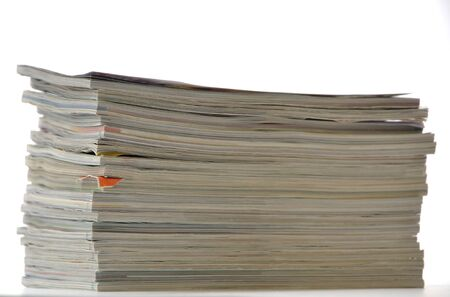 Stack of magazines photo