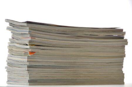 Stack of magazines Stock Photo - 13360741