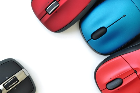 Colorful wireless mouses Imagens