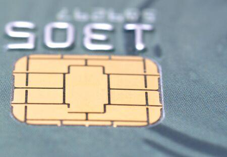 Macro business chip card   photo