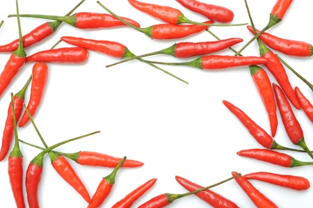 Red hot chili peppers border  photo