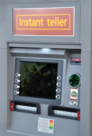 Instant teller outside bank Stock Photo - 14428908