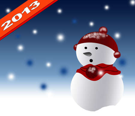 New Year 2013 with christmas design background Stock Photo - 14428899