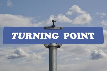 Turning point road sign photo