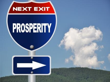 prosperidad: Muestra de camino de la prosperidad