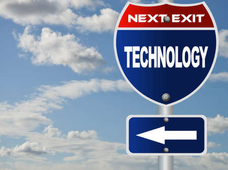 Technology road sign photo