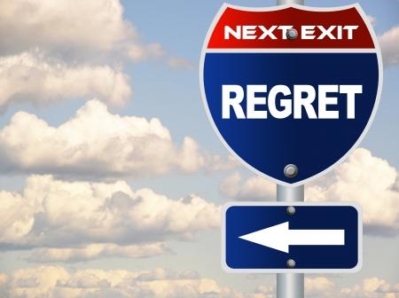 regret: Regret road sign Stock Photo