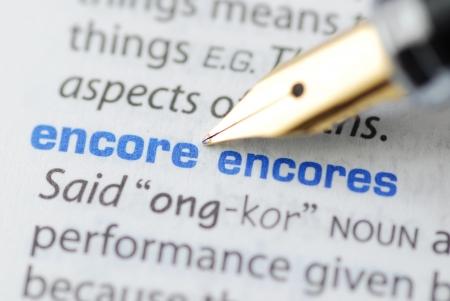 Encore - Dictionary Series 版權商用圖片 - 15323346