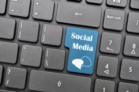 Social media on keyboard  Stock Photo - 15477974