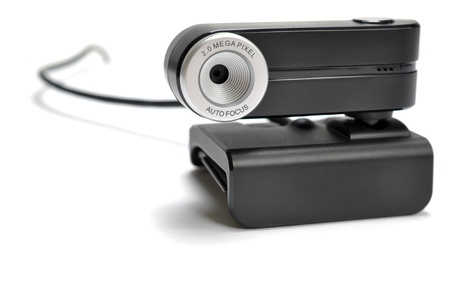 frontview: Front-view of a web-cam on a solid white background