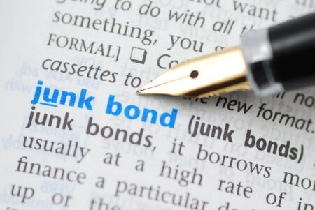 Junk bond - Dictionary Series  Stok Fotoğraf