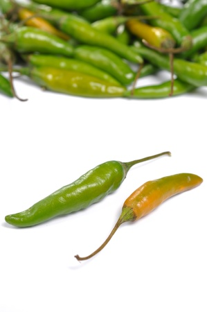 Green hot chili peppers pattern