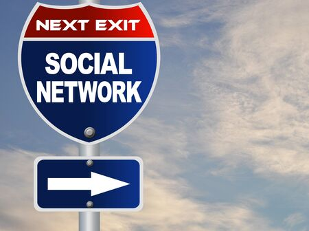 Social network road sign