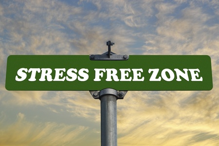 alpine zone: Stress free zone road sign
