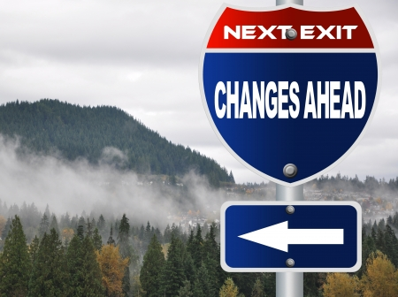 Changes ahead road sign photo