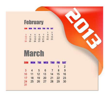 2013 March calendar
