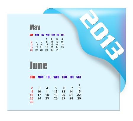 2013 June calendar  Stock Photo - 16278302