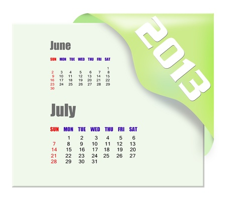 2013 July calendar  Stock Photo - 16278300