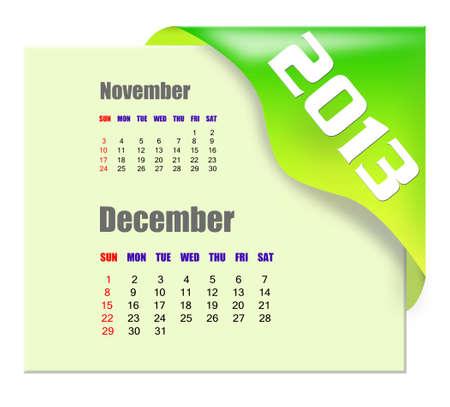 december calendar: 2013 Dicembre calendario