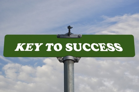 Key to success road sign photo