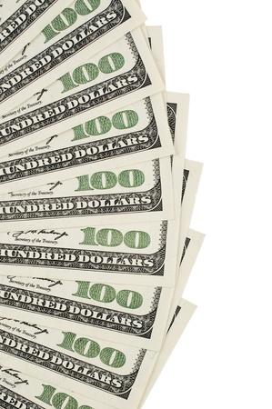 One hundred dollar bill background