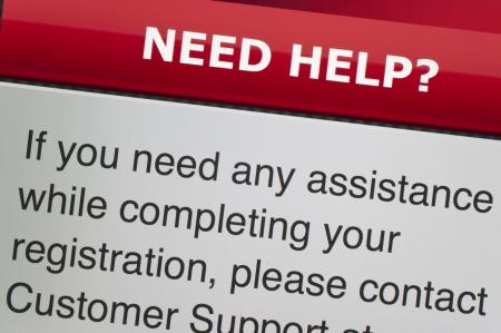Need help on computer screen Stock Photo - 16588460