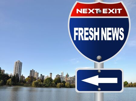Fresh news road sign photo