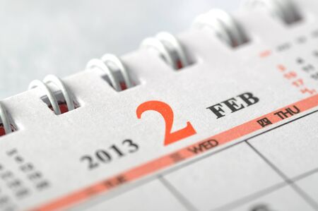 2013 February calendar Stock Photo - 16637984