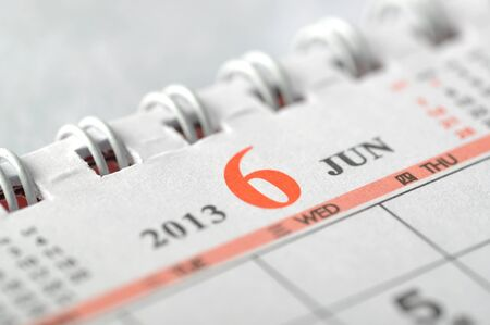 2013 June calendar  Stock Photo - 16637983
