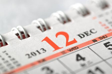 2013 December calendar Stock Photo - 16637994
