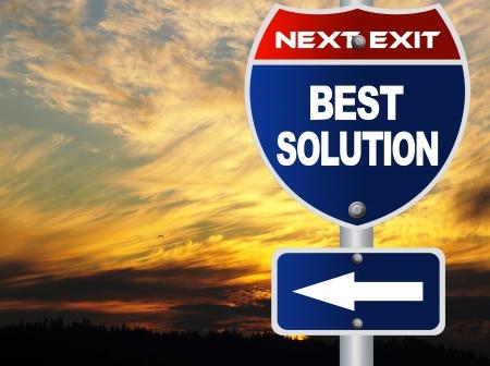 Best solution road sign