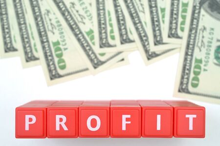 us dollar: Abstract profit with us dollar background  Stock Photo