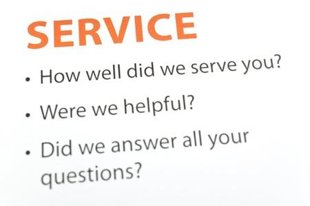 Service feedback Imagens