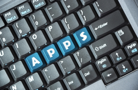 Apps on keyboard Stock Photo - 16959741