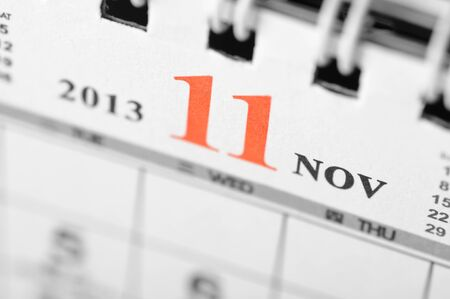 November of 2013 calendar on black background Stock Photo - 16959655