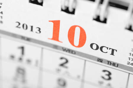 October of 2013 calendar on black background Stock Photo - 16959661